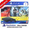 پلی استیشن ۴ اسلیم ۵۰۰ گیگبایت ریجن ۲ با بازی 12 ماه خدمات Playstation 4 slim R2 500G 2116A