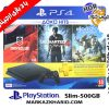 پلی استیشن ۴ اسلیم ۵۰۰ گیگبایت ریجن ۲ با بازی کپی خور 18 ماه طلایی Playstation 4 slim R2 500G 2116A HDR