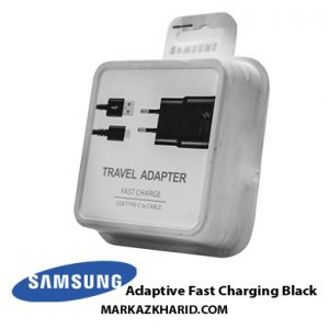 شارژر اصلی فست شارژ سامسونگ مشکی Samsung Adaptive Fast Charging Black