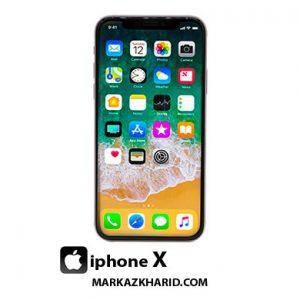 گوشی موبایل آیفون ایکس ۶۴ گیگابایت نقره ای Apple Mobile Phone Iphone X 64GB Silver