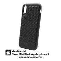 قاب و کاور ضدضربه گوشی آیفون ایکس ویوا مادرید Viva Madrid 360 Full Protection Glosa Mist Black Apple Iphone X
