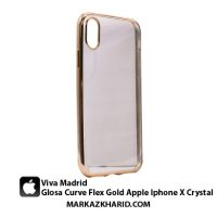 قاب و کاور شیشه ای گوشی آیفون ایکس ویوا مادرید Viva Madrid Glosa Curve Flex Gold Apple Iphone X Crystal