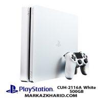 کنسول بازی پلی استیشن ۴ اسلیم ۵۰۰ گیگابایت ریجن ۲ ۲۱۱۶A سفید Playstation 4 Slim R2 500GB 2116A White