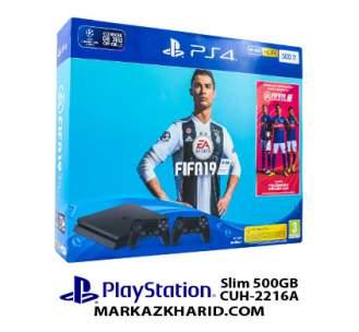 کنسول بازی پلی استیشن ۴ اسلیم 500 گیگابایت ۲۲۱۶A ریجن ۲ Playstation 4 Slim R2 500GB 2216A