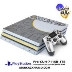کنسول بازی پلی استیشن ۴ پرو ۱ ترابایت ۷۱۱۵B ریجن ۱ طرح بازی گاد آو وار ۴ به همراه بازی اورجینال Playstation 4 PRO R1 1TB 7115B God of War 4 Game Pack