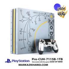 کنسول بازی پلی استیشن ۴ پرو ۱ ترابایت ۷۱۱5B ریجن 1 با بازی گاد آو وار 4 بدون بازی Playstation 4 PRO R1 1TB 7115B God of War 4 Pack