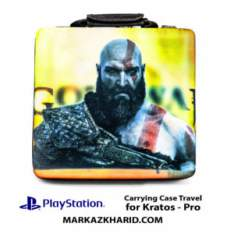 کیف ضدضربه پلی استیشن ۴ پرو طرح بازی گاد آو وار PlayStation 4 PRO Hard Case Travel Bag God of War Kratos