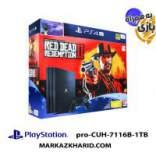 کنسول بازی پلی استیشن ۴ پرو ۱ ترابایت ۷۱۱۶B ریجن ۲ با بازی اورجینال رد دد ردمپشن 2 Playstation 4 PRO R2 1TB 7116B Red Dead Redemption 2 Pack