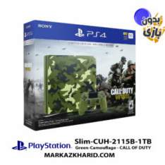 کنسول بازی پلی استیشن ۴ اسلیم ۱ ترابایت 2115B ریجن ۱ طرح بازی Call of Duty WWII بدون بازی Playstation 4 Slim R1 1TB 2115B Call of Duty WWII