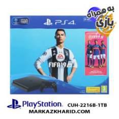 Playstation 4 Slim R2 1TB 2216B Fifa 19 Pack کنسول بازی پلی استیشن ۴ اسلیم ۱ ترابایت ۲۲۱6B ریجن 2 با بازی اورجینال فیفا 19