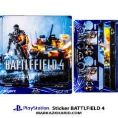 Playstation 4 Console and Controller Skin Sticker Battlfield 4 برچسب پلی استیشن ۴ طرح بتلفیلد 4