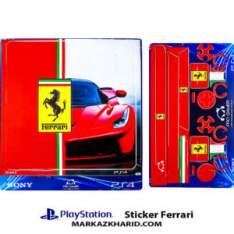 Playstation 4 Console and Controller Skin Sticker Ferrari برچسب پلی استیشن ۴ طرح فراری