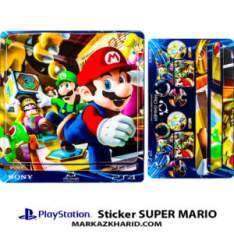 Playstation 4 Console and Controller Skin Sticker SUPER MARIO برچسب پلی استیشن ۴ طرح سوپر ماریو