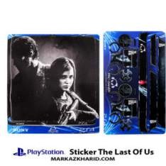 Playstation 4 Console and Controller Skin Sticker The Last Of Us Black برچسب پلی استیشن ۴ طرح لست آو آس