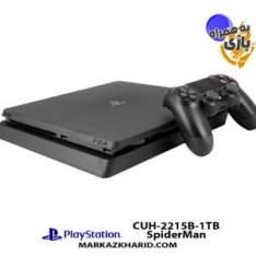 Playstation 4 Slim R2 1TB 2216B SpiderMan Pack کنسول بازی پلی استیشن ۴ اسلیم ۱ ترابایت ۲۲۱5B ریجن 1 با بازی اورجینال اسپایدرمن