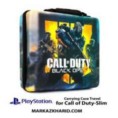 کیف ضدضربه پلی استیشن ۴ اسلیم طرح بازی کال آو دیوتی بلک آپس PlayStation 4 Slim Hard Case Travel Bag Call of Duty Black Ops 4