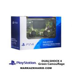 دسته بازی پلی استیشن ۴ چریک سبز Playstation 4 DualShock 4 Wireless Controller Green Camouflage