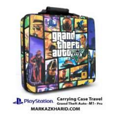 کیف ضدضربه پلی استیشن ۴ پرو طرح بازی سرقت بزرگ خودرو PlayStation 4 PRO Hard Case Travel Bag Grand Theft Auto 4