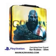 کیف ضدضربه پلی استیشن ۴ اسلیم طرح بازی گاد آو وار PlayStation 4 Slim Hard Case Travel Bag God of War Kratos