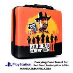 کیف ضدضربه پلی استیشن ۴ اسلیم طرح بازی رد دد ردمپشن PlayStation 4 Slim Hard Case Travel Bag Red Dead Redemption 2