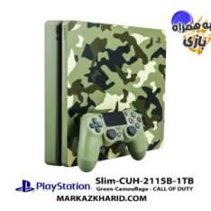 کنسول بازی پلی استیشن ۴ اسلیم ۱ ترابایت ۲۱۱۵B ریجن ۱ طرح بازی کال آو دیوتی با بازی اورجینال Playstation 4 Slim R1 1TB 2115B Call of Duty WWII Game Pack