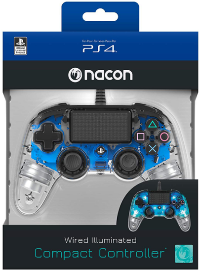 دسته بازی PlayStation Nacon Compact Controller Wired ILLuminated Blue