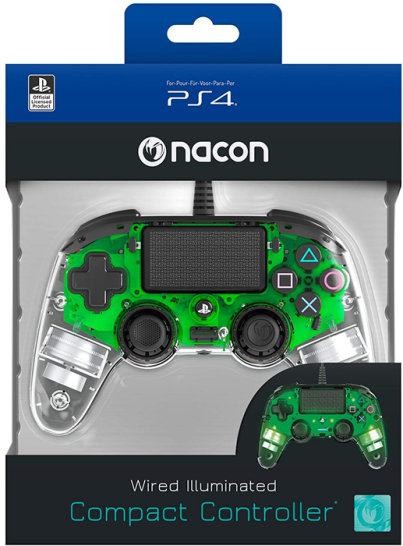 دسته بازی PlayStation Nacon Compact Controller Wired ILLuminated green