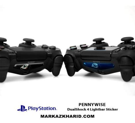 برچسب لایت بار Playstation DualShock 4 Pennywise LightBar Sticker