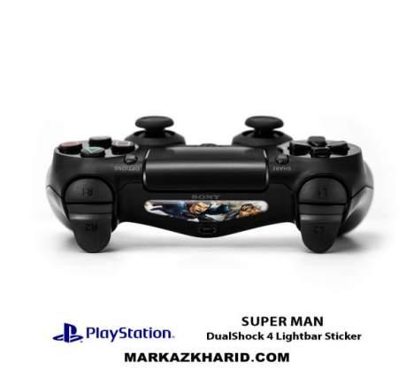 برچسب لایت بار Playstation DualShock 4 Super Man LightBar Sticker