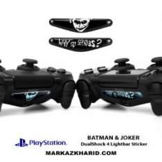 برچسب لایت بار Playstation DualShock 4 batman and joker LightBar Sticker