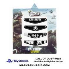 برچسب لایت بار Playstation DualShock 4 call of duty wwii LightBar Sticker