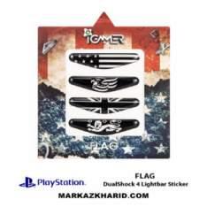 برچسب لایت بار Playstation DualShock 4 flag LightBar Sticker