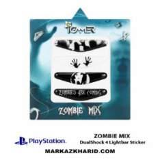 برچسب لایت بار Playstation DualShock 4 zombie mix LightBar Sticker