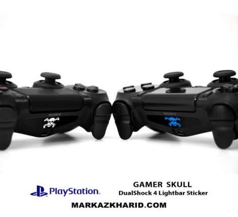برچسب لایت بار PlayStation Gamer Skull DualShock 4 Lightbar Sticker
