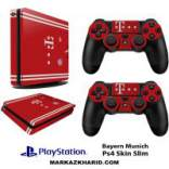 برچسب پلی استیشن 4 اسلیم Playstation 4 Slim Console and Controller Skin Sticker Bayern Munich