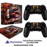 برچسب پلی استیشن 4 پرو Playstation 4 Pro Console and Controller Skin Sticker Call of Duty Zombies
