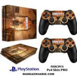 برچسب پلی استیشن 4 پرو Playstation 4 Pro Console and Controller Skin Sticker Far Cry 5