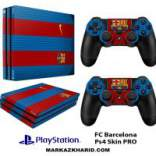برچسب پلی استیشن 4 پرو Playstation 4 Pro Console and Controller Skin Sticker FC Barcelona