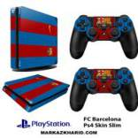 برچسب پلی استیشن 4 اسلیم Playstation 4 Slim Console and Controller Skin Sticker FC Barcelona