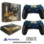 برچسب پلی استیشن 4 پرو Playstation 4 Pro Console and Controller Skin Sticker Fallout 76
