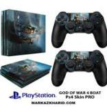 برچسب پلی استیشن 4 پرو Playstation 4 Pro Console and Controller Skin Sticker God OF WAR 4 Boat