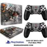 برچسب پلی استیشن 4 پرو Playstation 4 Pro Console and Controller Skin Sticker God of War 4 Boy