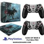 برچسب پلی استیشن 4 پرو Playstation 4 Console and Controller Skin Sticker God of War 4