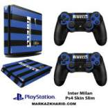 برچسب پلی استیشن 4 اسلیم Playstation 4 Slim Console and Controller Skin Sticker Inter Milan