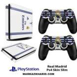 برچسب پلی استیشن 4 اسلیم Playstation 4 Slim Console and Controller Skin Sticker Real Madrid