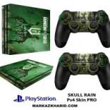 برچسب پلی استیشن 4 پرو Playstation 4 Pro Console and Controller Skin Sticker Rainbow Six Siege Skull Rain