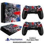 برچسب پلی استیشن 4 پرو Playstation 4 Pro Console and Controller Skin Sticker Soldiers