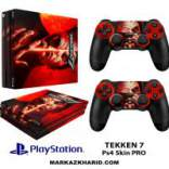 برچسب پلی استیشن 4 پرو Playstation 4 Pro Console and Controller Skin Sticker Skull Rain