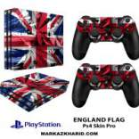 برچسب پلی استیشن 4 پرو Playstation 4 Pro Console and Controller Skin Sticker England flag
