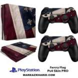 برچسب پلی استیشن 4 پرو Playstation 4 Pro Console and Controller Skin Sticker Farcry Flag